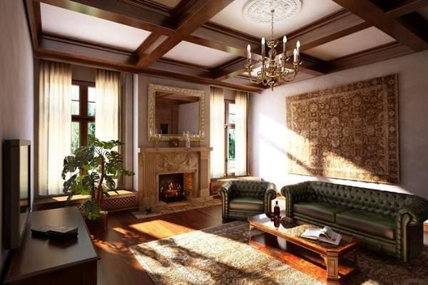 Гостиные фото в доме частном – красивые варианты ...