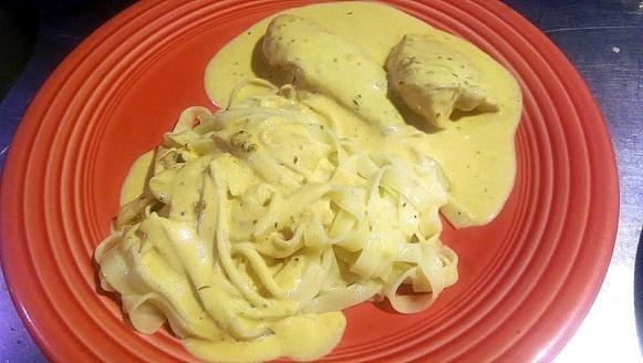 Poulet moutarde aux taglatelles