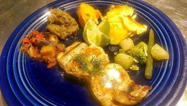 Daurade grillée à l'huile et citron vert