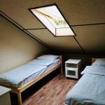Двухспальный номер с отдельными кроватями с туалетом и душем на этаже без окна