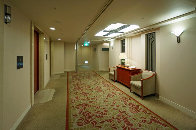 京都ホテルオークラ_エレベーターホール