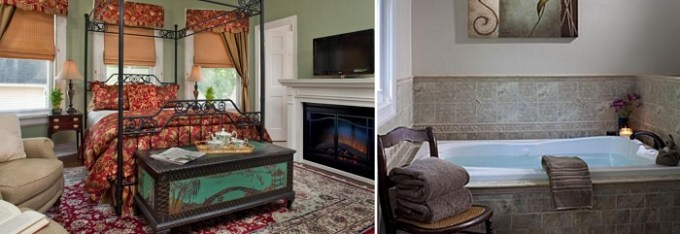 Queen Suite with hot tub in Whistling Swan Inn, NJ hotel