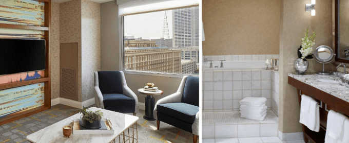 Room with Whirlpool tub in Renaissance Atlanta Midtown Hotel