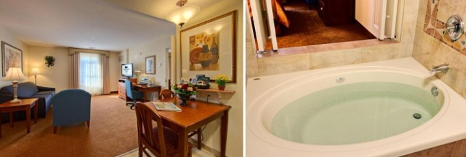 Suite with a Whirlpool in Homewood Suites by Hilton East Rutherford - Meadowlands, NJ hotel