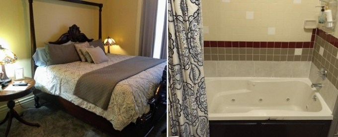 Suite with a hot tub in the room in Stone Gables Inn, Cleveland, Ohio