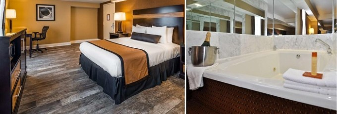 Suite with a private hot tub in the room in Best Western Plus Newark Airport West, NJ hotel