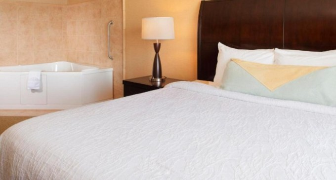 Hot tub suite in Hilton Garden Inn Omaha East-Council Bluffs Hotel, Nebraska