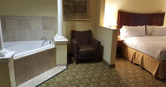 Hot tub suite in Holiday Inn Express Hotel & Suites Jacksonville East, Florida