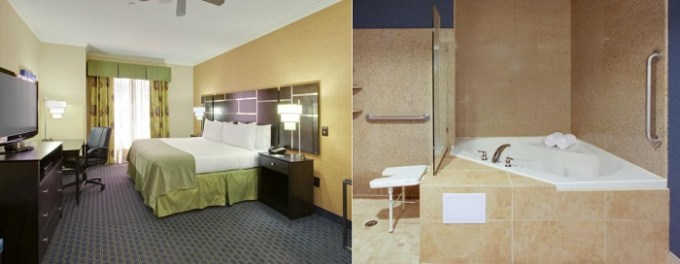 King room with a hot tub in Holiday Inn Channelview, Houston hotel