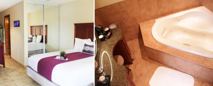 King room with a hot tub in Hotel Iris - Mission Valley-San Diego Zoo-SeaWorld