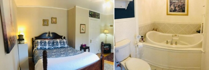 Room with hot tub in Red Sleigh Inn, Lincoln, HN