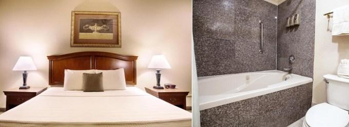 Room with whirlpool tub in O'Brien Riverwalk Boutique Hotel, San Antonio, TX