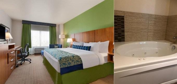 Suite with a hot tub in Wyndham Garden River Walk Museum Reach Hotel, San Antonio, TX