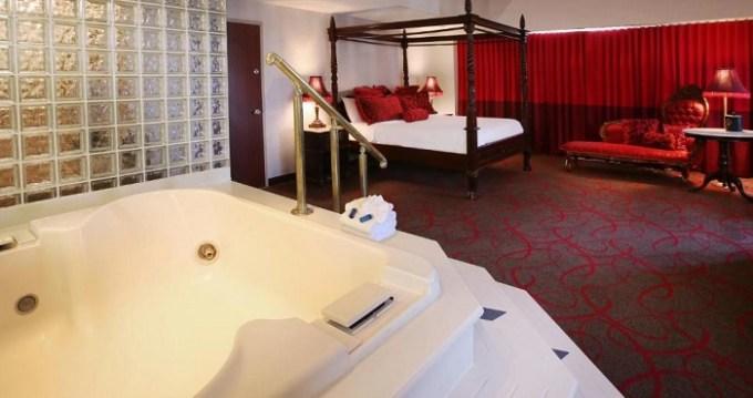 Hot Tub suite in The Claridge - a Radisson Hotel in Atlantic City, NJ