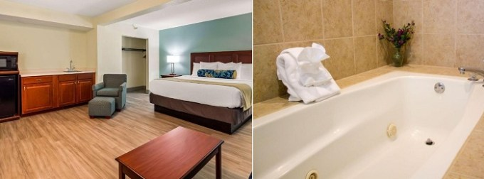 Suite with a hot tub in Best Western Plus Myrtle Beach@Intracoastal, SC
