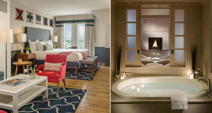 Hot Tub Suite in Portland Harbor Hotel, Maine