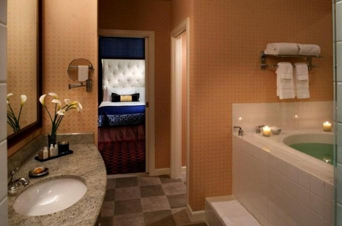 Suite with a whirlpool tub in Kimpton Hotel Monaco, Salt Lake City, Utah