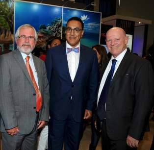 Minister Balala, Minister Lalanne and St Ange