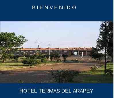 Frente Hotel Arapey Municipal Salto Uruguay