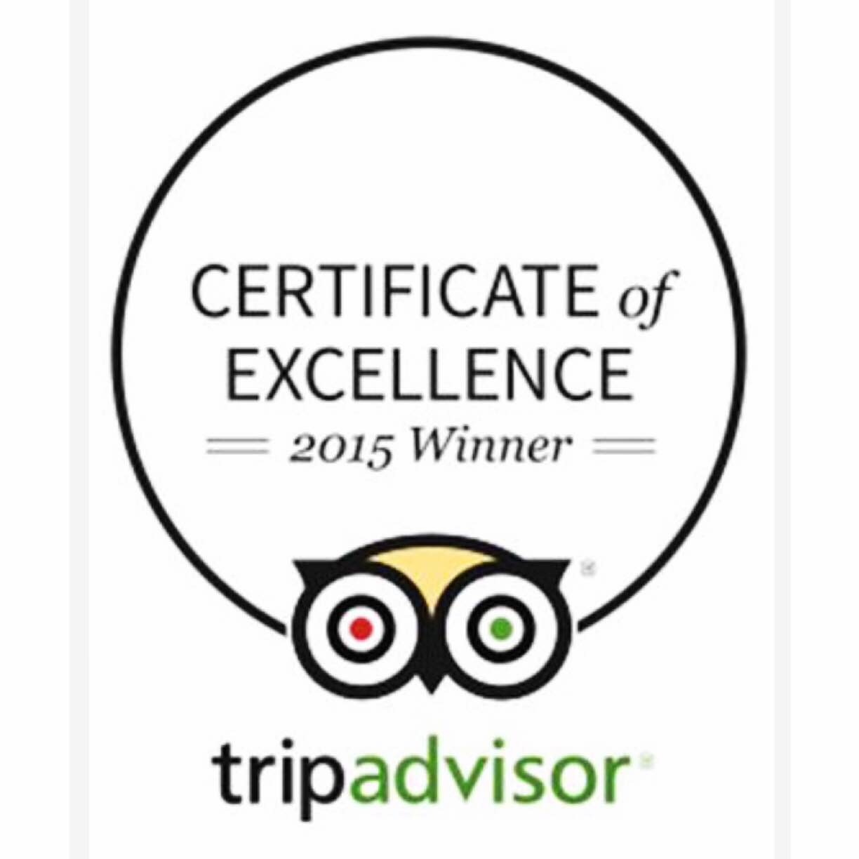 Image result for 2015 tripadvisor certificate of excellence