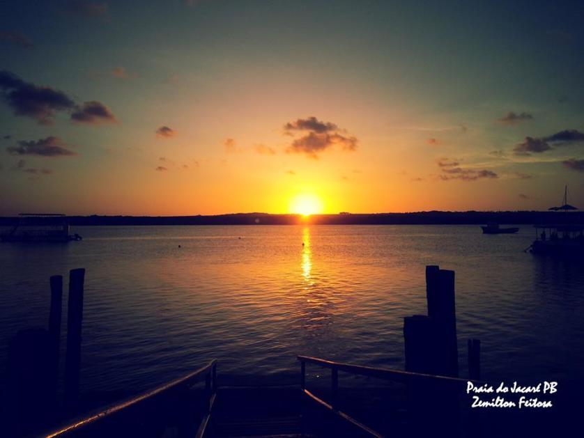 Imagem do por do sol na paraiba