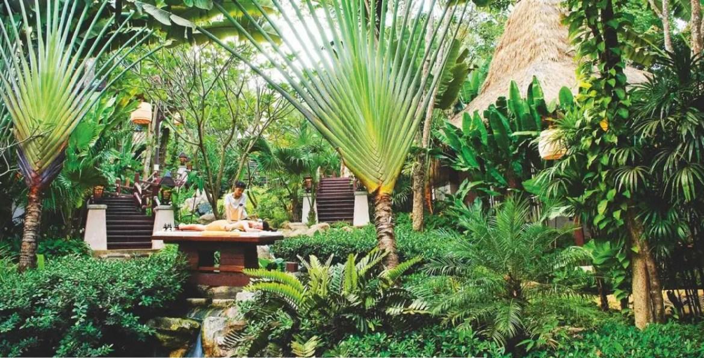 Au spa, composé de sept « salas », huttes totalement fondues dans le cadre naturel, un large éventail de soins-signatures laisse notamment le choix de l'huile de massage à l'humeur du visiteur.