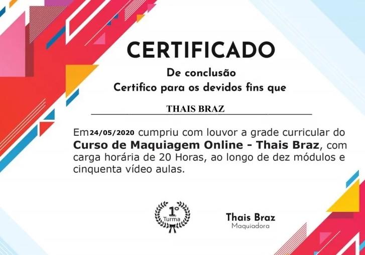 Curso Automaquiagem Certificado