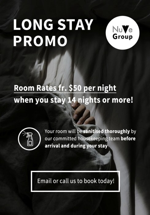 Monthly hotel promotion