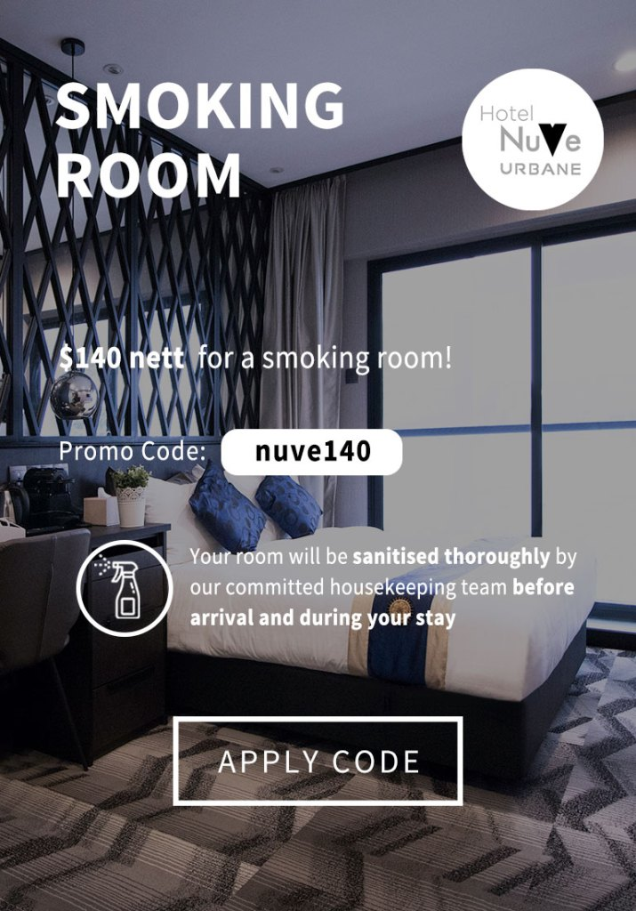 Smoking Hotel Room in Singapore