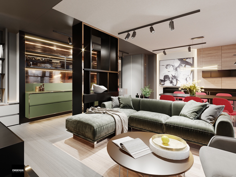 Dizajn luxusneho apartmanu hrebienok