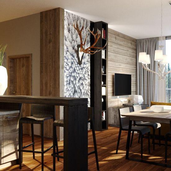 moderny interierovy dizajn horskeho apartmanu