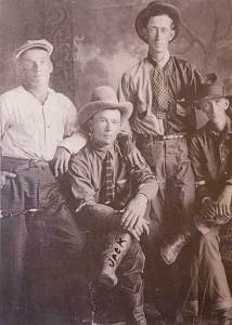 Vintage photo of cowboys