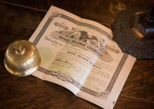 Hotel Prairie Company stock certificate