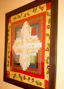 framed quilt art