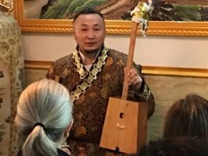 Artist-in-residence Baartajav Erdene Tsogt
