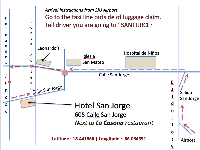 Arrival Instructions Hotel San Jorge