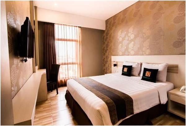 View kamar tipe superior twin di hotel grand sovie Bandung