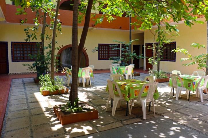 Inside courtyard area