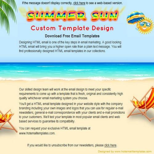 Summer Sun | Free HTML E-Mail Templates