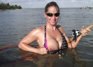 Amateur Topless Fishing