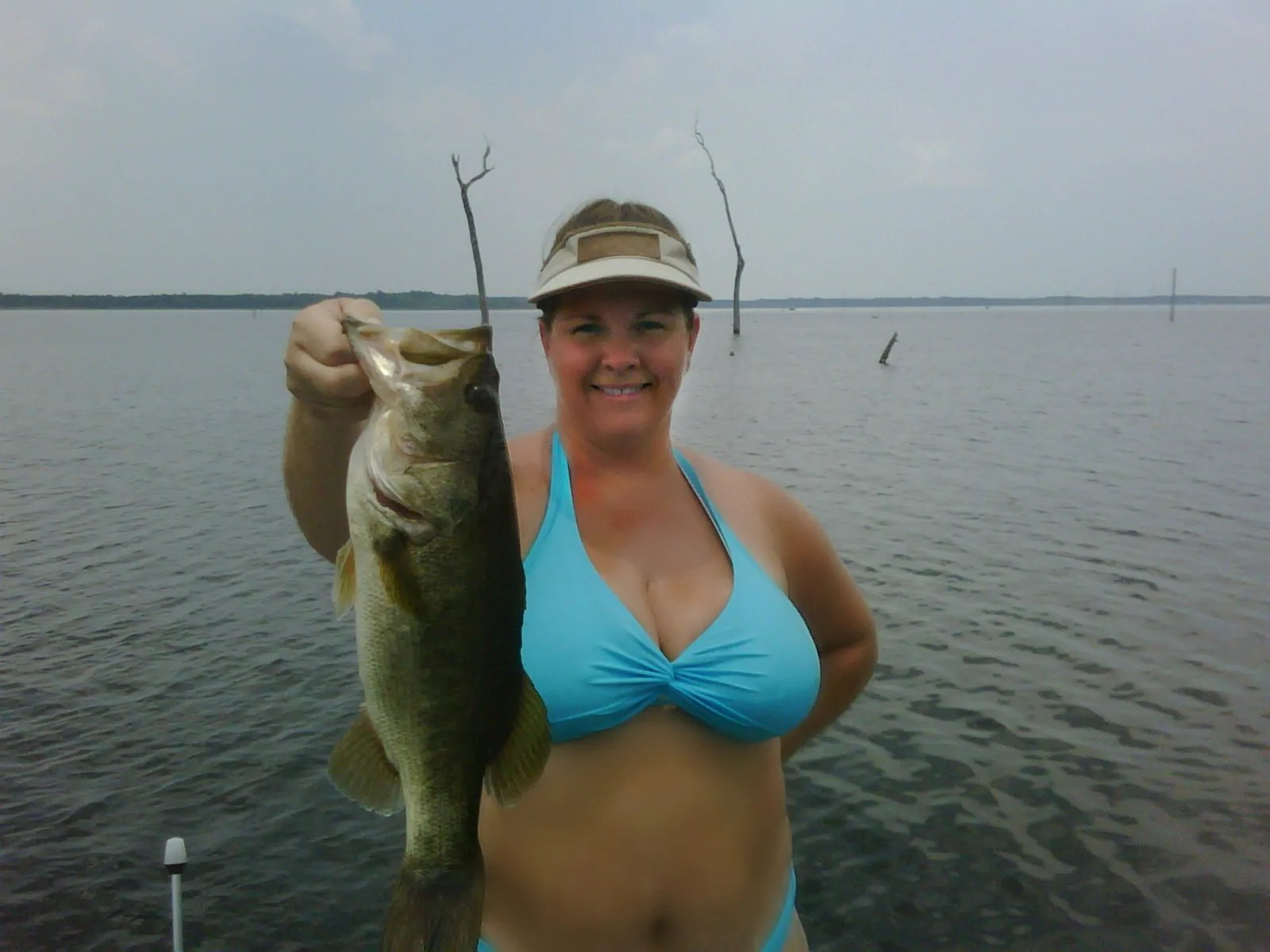 Mine the Nude women bass fishing