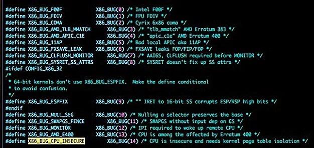 Intel CPU Kernel Memory Bug