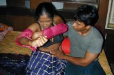 Bangla girl saree removing photo