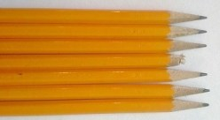 Pencil tips (6 sharpened, 1 broken)