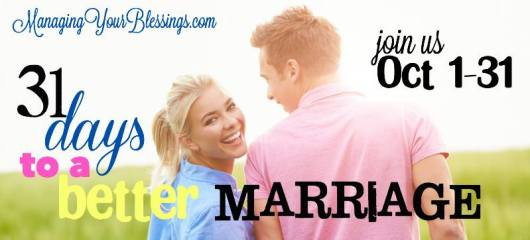 31 Days to a Better Marriage Banner