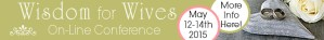 Wisdom for Wives Conference banner
