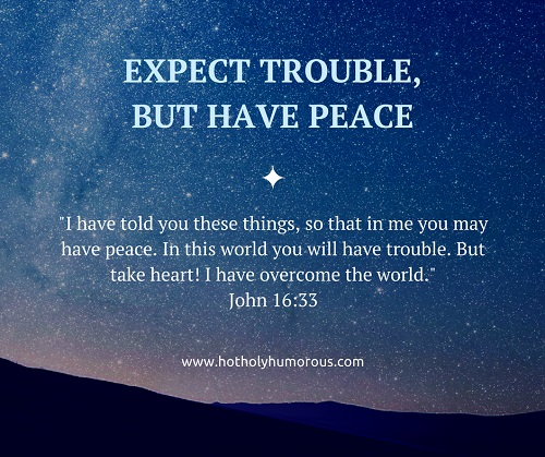 Expect Trouble But Have Peace John 16-33