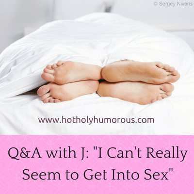 Blog title + couple's feet in bed pointed away from each other