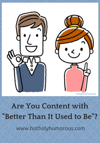 "Blog post title with illustrated couple giving ""okay"" hand gesture"