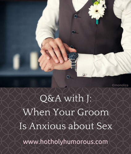 Blog post title + midsection of groom looking at his watch